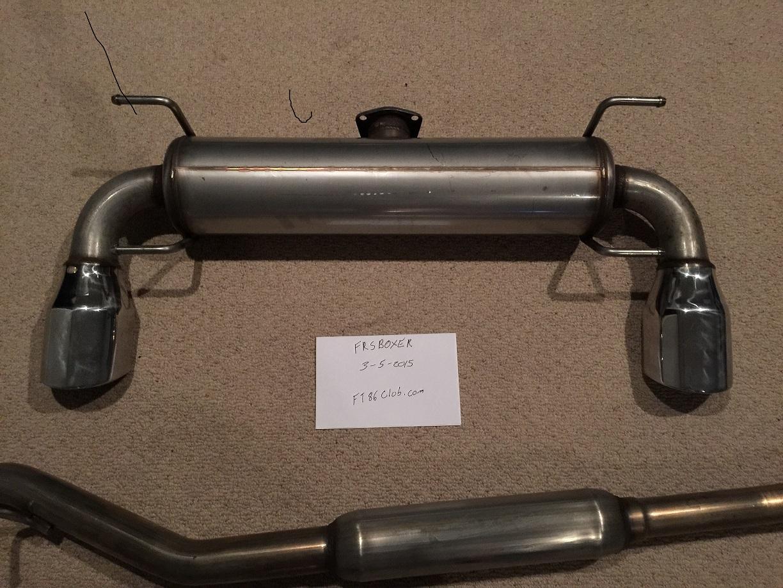 TRD exhaust for sale  Scion FRS Forum  Subaru BRZ Forum