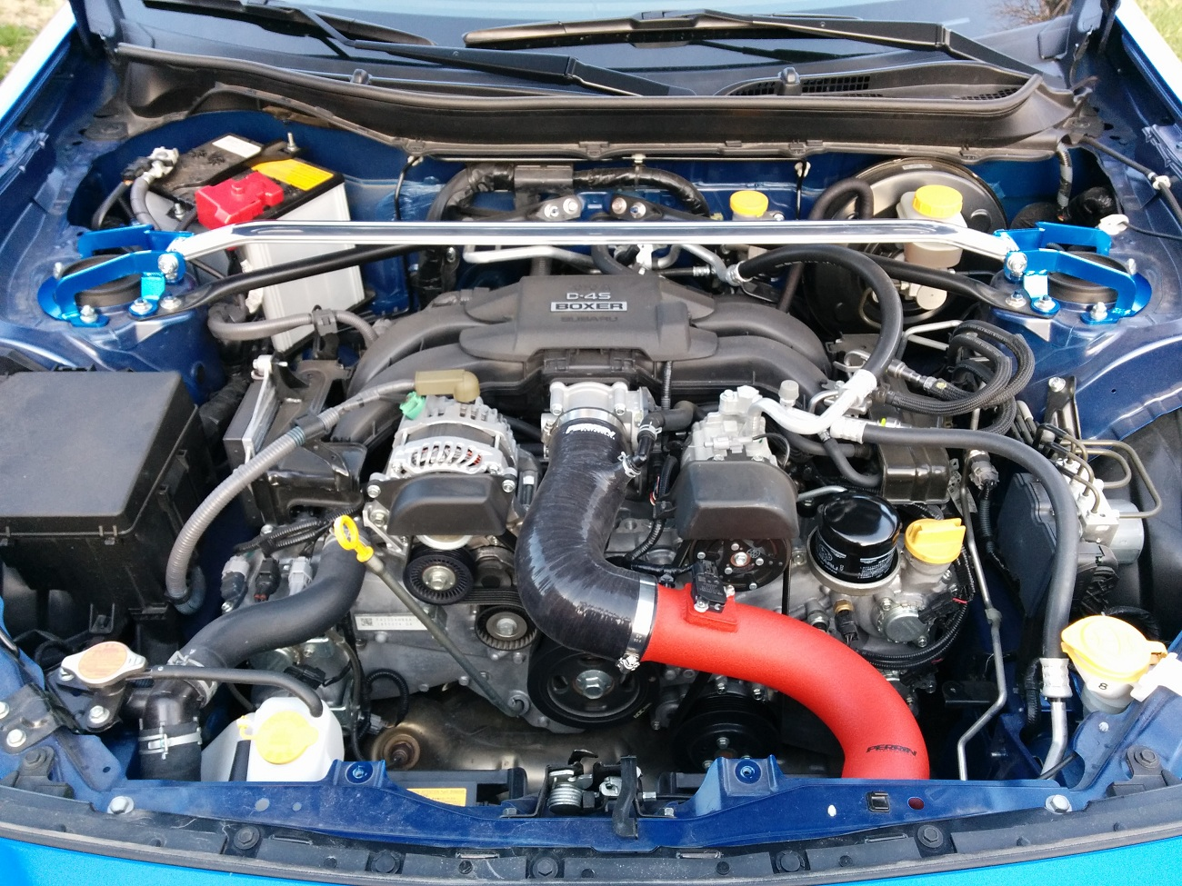 Perrin 13 Subaru BRZ 13 Scion FR-S Red Inlet Hose