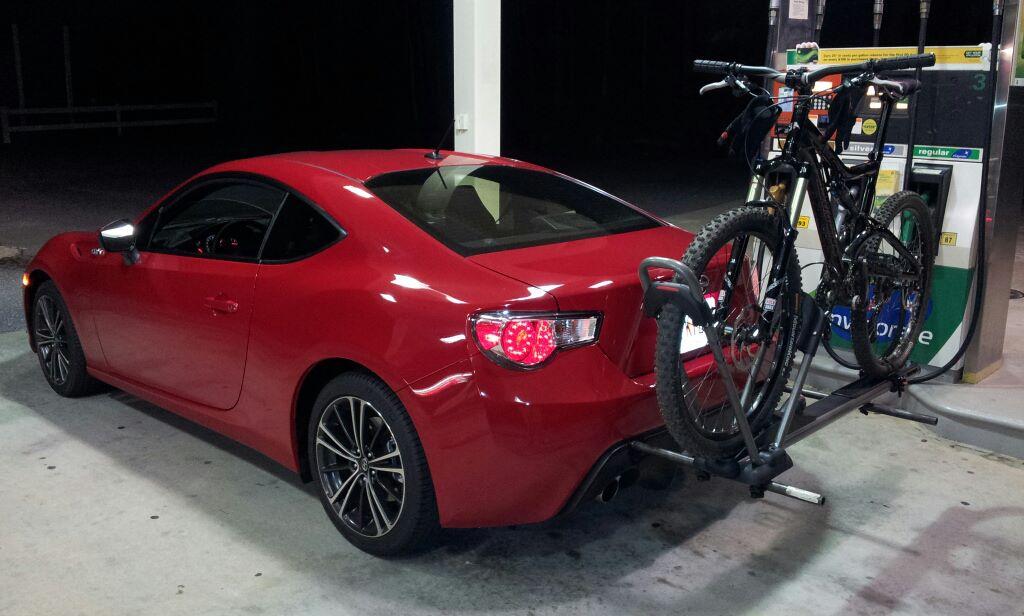 Rear Mounted Bike Rack Scion Fr S Forum Subaru Brz Toyota 86 Gt As1 Ft86club