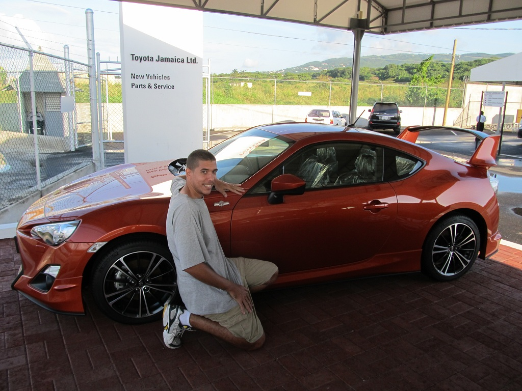 toyota 86 at a dealership in montego bay jamaica - scion fr-s