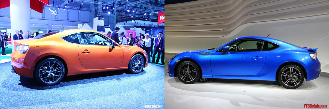 Thread subaru brz vs scion fr s side by side comparison
