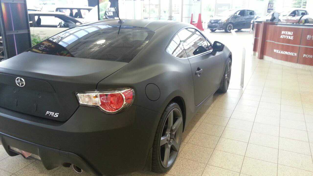subaru brz matte black. name 20130629 182403jpg views 9487 size flat black wrap subaru brz matte