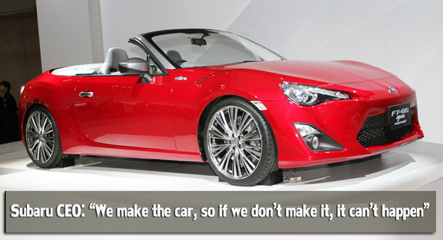 What S Going On Between Toyota Subaru On The Convertible Version