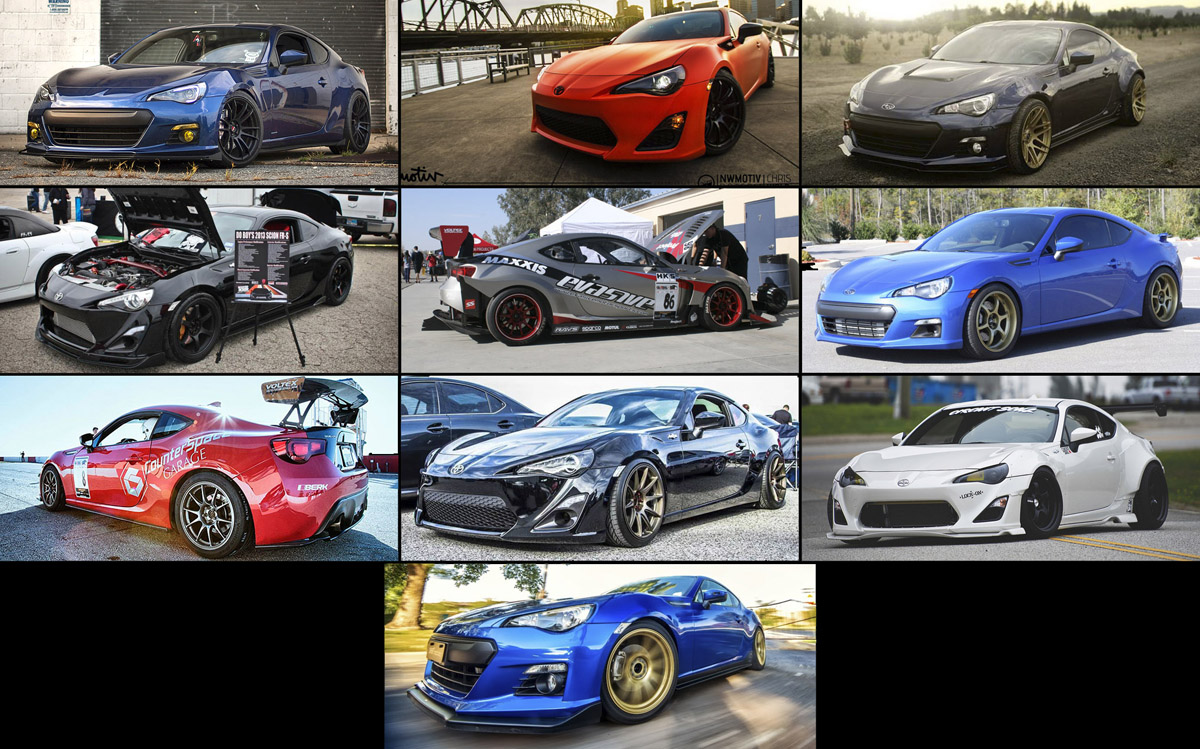 Top 10 FR-S / BRZ / 86 on FT86CLUB for 2013, as Chosen by You