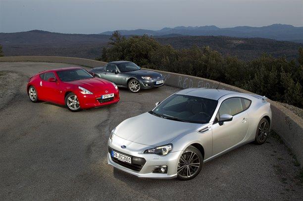 Subaru BRZ Direct Test vs Nissan 370z and Mazda MX-5 Miata ...