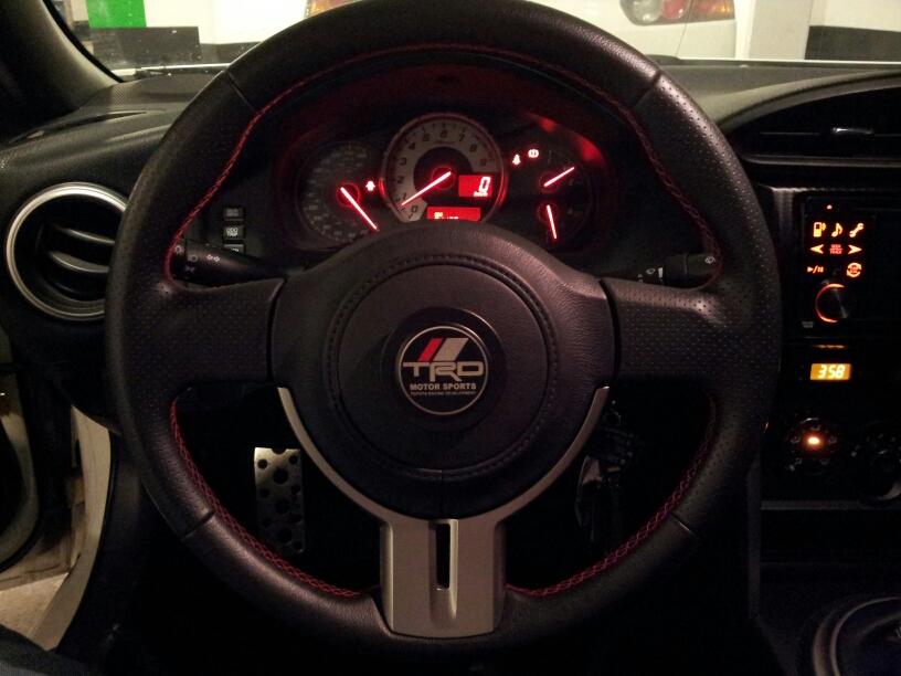 trd steering wheel emblem scion fr s forum subaru brz. Black Bedroom Furniture Sets. Home Design Ideas