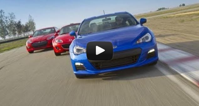 Subaru Brz Vs Mazda Mx 5 Miata Hyundai Genesis Coupe Road And Track Comparo