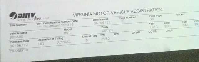 virginia motor vehicle registration