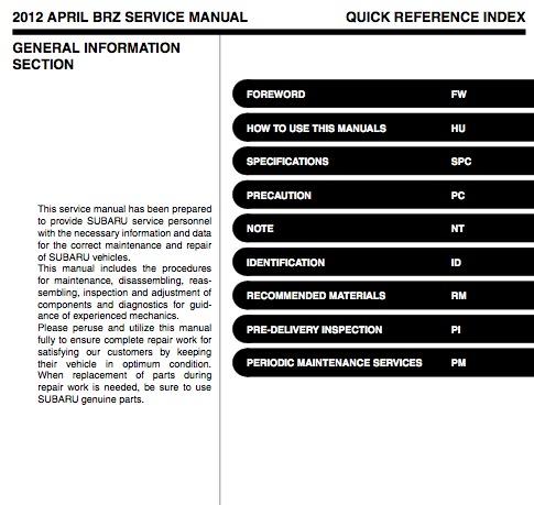 scion fr s shop manual 2013