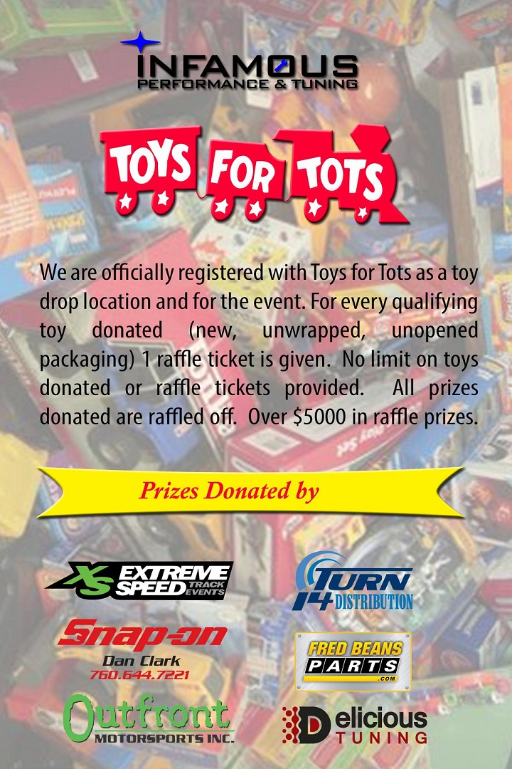 Toys For Tots Raffle : Infamous performance th annual toys for tots drive and