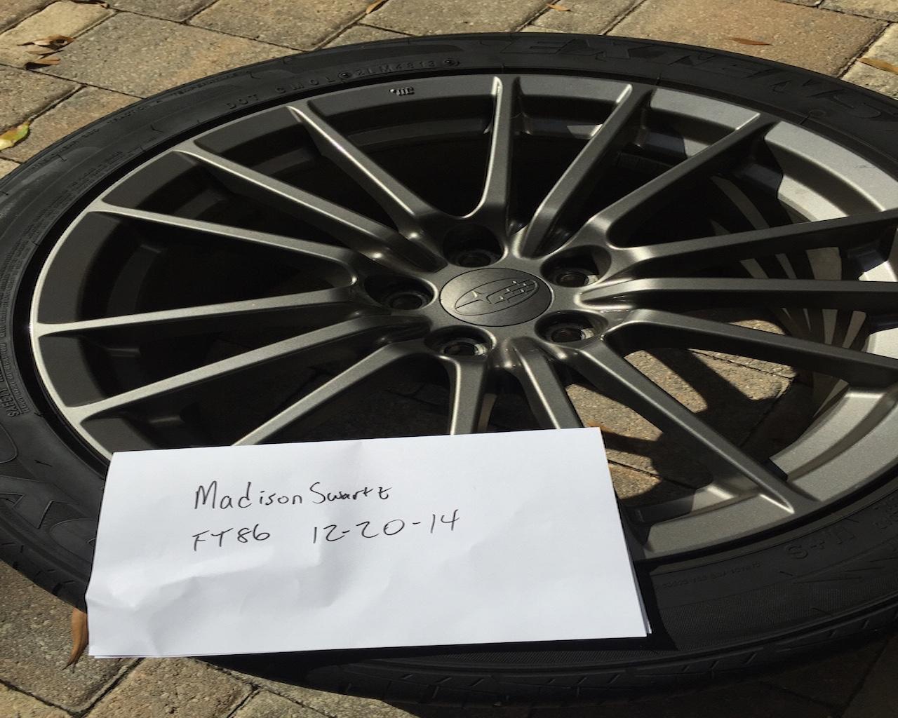 FL-For sale stock 2013 WRX wheels 650 - Scion FR-S Forum